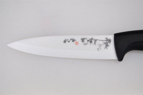 Coltello in Ceramica Bianca decorata - Lama 10