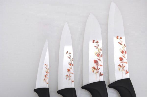 Set Coltelli in Ceramica Decorati