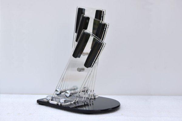 Portacoltelli in plexiglass per 3 coltelli
